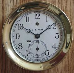 Chelsea clock. US Navy 1915-1919