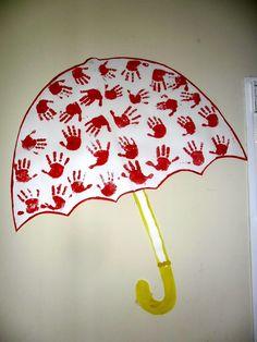 Con los pequeñines de 3 años, realizamos la fiesta de los colores. Cada mes se lo dedicamos a un color . Por ejemplo si es la fiesta del co... Autumn Crafts, Autumn Art, Summer Crafts, Diy And Crafts, Crafts For Kids, Arts And Crafts, Preschool Classroom Decor, Preschool Art, Preschool Activities