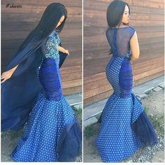 shweshwe dresses gallery 2017 / 2018 - style you 7 South African Traditional Dresses, Traditional Dresses Designs, Traditional Wedding Dresses, Traditional Outfits, Traditional Fabric, African Dresses For Women, African Attire, African Fashion Dresses, African Women