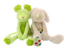 The Rabbit and Mouse from Les Zazous #671021 #671022 #magicforesttoys #moulinroty
