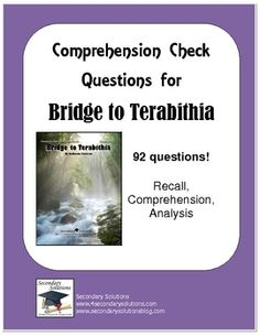 Worksheet Bridge To Terabithia Worksheets 1000 images about bridge to terabithia unit on pinterest comprehension checkstudy guide questions for the entire novel by katherine paterson
