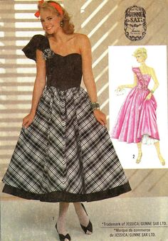 1980s Evening Dress Pattern Simplicity 6782 Gunne by paneenjerez, $14.00