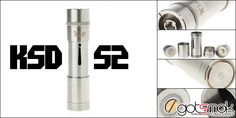 Finally... a unique design out of China that didn't copy another device. And, I gotta say... I kinda like it. The KSD S2 mechanical MOD is a stainless steel telescopic MOD. It can be powered by (1) 18500 or 18650 battery. It features brass pins, recessed button & 510 connector. But, the thing that I like the most about the device is... http://gotsmok.com
