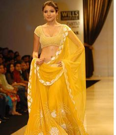 Anushka so pretty in sunny yellow lehenga & choli
