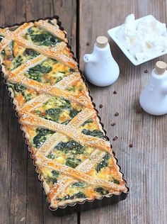 Spinach and ricotta tart Tart Recipes, Wine Recipes, Cooking Recipes, Spinach Tart, Vegetable Tart, Savory Tart, Healthy Sandwiches, Food Shows, Pinterest Recipes