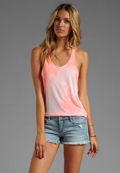 291 Side Slit Racer Back Tank in Cow Lava at Revolve Clothing - Free Shipping!
