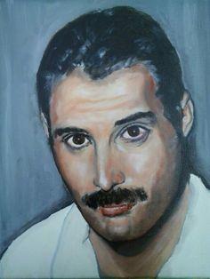 """Freddie"" oil on canvas 25x30cm painted by Ariela Salcini"