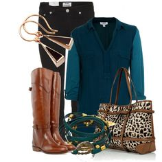 """""""Teal Rider"""" by xx8763xx on Polyvore"""