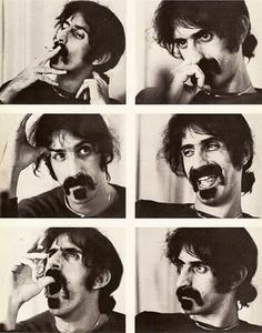 Whenever I see pictures of Frank Zappa, I simply fall in love with him...