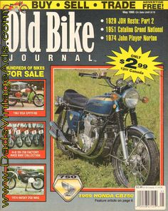 Cover Story: Bob Brook's landmark 1969 Honda - the machine by which all superbikes were once judged; Features: Project Two-Cam part 1951 Catalina Grand National; more Complete, vintage motorcycle magazine. Vintage Honda Motorcycles, Honda 750, Cb750, Grand National, Old Bikes, Super Bikes, Magazine Covers, Teenagers, Bob