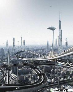 USKAO - ARXIX - futurism with rail, future city, futuristic city, futuristic architecture Retro Futuristic, Futuristic Architecture, Infrastructure Architecture, Chinese Architecture, Architecture Office, Future City, Fantasy Landscape, Sci Fi Fantasy, Urban Landscape