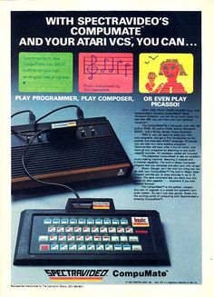 """Atari Compumate - my first """"computer""""    .....................Please save this pin.   .............................. Because for vintage collectibles - Click on the following link!.. http://www.ebay.com/usr/prestige_online"""