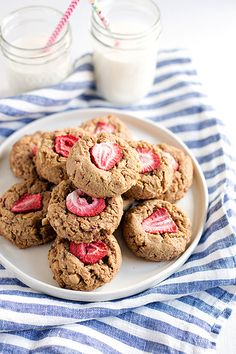 Peanut Butter Strawberry Cookies