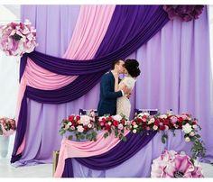 Trendy Ideas For Wedding Backdrop Purple Pink Backdrop Decorations, Indian Wedding Decorations, Ceremony Decorations, Wedding Centerpieces, Centerpiece Flowers, Bride Groom Table, Wedding Stage, Backdrop Wedding, Photo Booth Backdrop