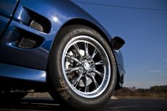 """RC Comp drag race wheels by RC Components. Featured in this image is the Hammer-S Polished 17"""" front race wheel."""