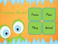Proper and common noun printable