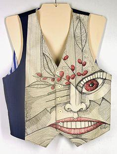 "Cheryl Bridgart's ""Classical Twist' one-off embroidered man's waistcoat"