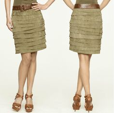 Suede skirt, patterns instructions, use google chrome to translate