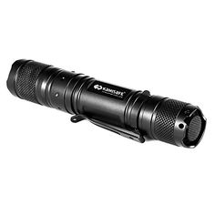 Kamisafe KMMN30 Cree Q5 Handheld LED Pocket Flashlight Torch Waterproof Tactical Flashlight with Clip Black ** To view further for this item, visit the image link.