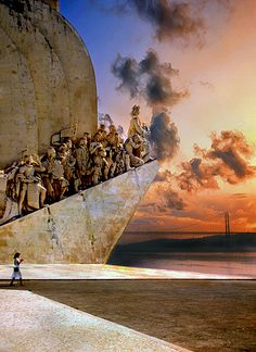 Sunset at the Monument to the Discoveries in #Lisbon, #Portugal