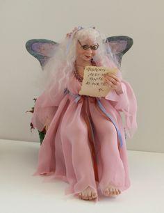 OOAK Hesperis by Nancy Walters Polymer Clay Doll Old Fairy Full Body Sculpt