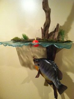 Hand carved sunfish crappie walleye bluegill by Shadowcarvings