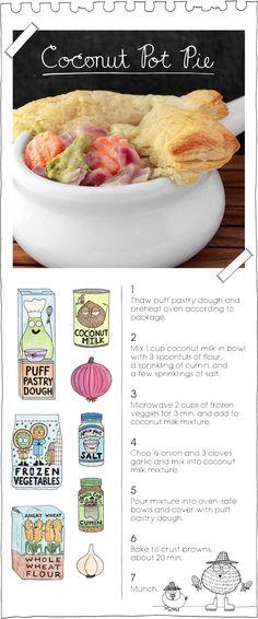 Coconut Pot Pie by The Vegan Stoner. More at: TheVeganStoner.com