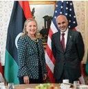 Hellery Clinton with prominent member of Daesh and Al Qaeda Libyan 2015