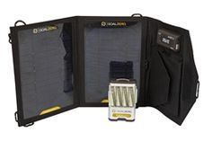 Goal Zero Guide 10 Plus Adventure Kit. This best selling kit is capable of charging your smartphone, GPS, iPod, or other hand-held device directly from the sun in 1-2 hours via the Nomad 7 Solar Panel. Or charge up the Guide 10 Plus battery pack and then recharge your phone later 1-3 times. This Kit includes the battery pack and rechargeable AA batteries (4) Never buy batteries again. Recharge AA or AAA batteries from sun. Small, light, and compact. Power up anywhere.