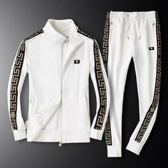 Streetwear Fashion trends and outfits for sale - Edwin Vonholy Versace Sweater, Versace Shirts, Versace Jacket, Versace Men, Gucci Outfits, Teen Fashion Outfits, Cool Outfits, Versace Tracksuit, Mens Tracksuit Set