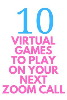 10 Virtual Games to Play Online with Friends - Here are 10 fun games to play while you're on your next ZOOM call or online party! Great for direct sales meetings and holiday parties. Virtual Games For Kids, Virtual Families, Building Games For Kids, Team Building Activities, Games To Play, Name Games For Kids, Team Building Exercises, Mini Games, Play Online