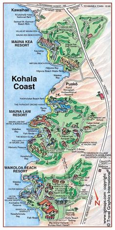 Beaches Map Big Island Hawaii Hawaii Maps Pinterest Big - Us map including hawaii