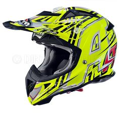 Airoh Aviator Revenge Yellow Motocross - Enduro Helmet  The Airoh Aviator is A BRAND NEW Carbon Kevlar helmet from the masters of light-weight helmet manufacturing. Featuring a revolutionary new ventilation system.