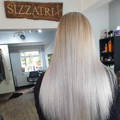 Taylor had backcombed roots at the top foiled and weaved and at the back. Then toned with with and + ends. Ash Blonde, Healthy Hair, Hair Goals, Bleach, Roots, Salons, Long Hair Styles, Top, Beauty