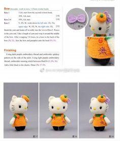 Crochet Cow, Crochet Bunny Pattern, Crochet Patterns Amigurumi, Cute Crochet, Crochet Dolls, Hello Kitty Crochet, Stuffed Toys Patterns, Hobbies And Crafts, Knitting