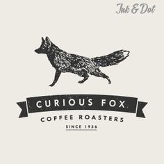 Premade Logo Design  Curious Fox Design by inkanddot on Etsy, $38.00
