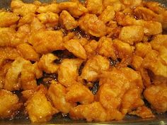 Baked Sweet and Sour Chicken    The chicken coating:    3-4 boneless chicken breasts  salt + pepper  1 cup cornstarch  2 eggs, beaten  1/4 cup canola oil    The sweet and sour sauce:    3/4 cup sugar  4 tbs ketchup  1/2 cup vinegar  1 tbs soy sauce  1 tsp garlic salt