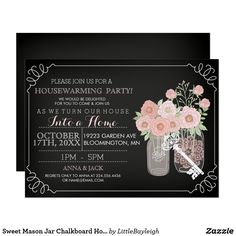 Find customizable Barn invitations & announcements of all sizes. Pick your favorite invitation design from our amazing selection. Invitation Design, Custom Invitations, Party Invitations, Invite, Housewarming Party, Housewarming Invitations, Chalkboard Mason Jars, Paper Goods, White Envelopes