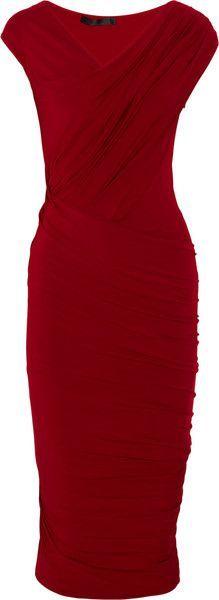 Donna Karan New York Draped Stretchjersey Dress