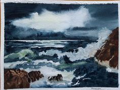 Moonlight by Angela Riley - Paint a seascape or harbour scene to win copies of David Bellamy books from Search Press Painting Competition, Seascape Paintings, Moonlight, Scene, Artist, Books, David, Search, Libros