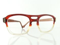 76706e24fcb Vintage Deadstock 70 s American Optical Protective Eyeglass Frames Aviator  Red Fade - FREE Domestic Shipping