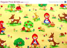 Cyber SALE Cosmo Textiles Red Riding Hood by PiccoliPlayhouse