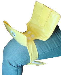 no change table in the wc? - Yellow Swifty Snap Standing Diaper Changer fits by SwiftySnap