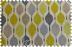 Zest Verve Mimosa Curtain Fabric