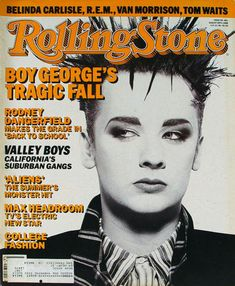 Huge collection of vintage, old, collectible, rage magazines spanning over 100 years with thousands of titles. Featuring Boy George, Rodney Dangerfield, Valley Boys, Belinda Carlisle, R.E.M., Van Morrison, Tom Waits, Norman Watson. Boy George, Like A Rolling Stone, Rolling Stones, Music Magazines, Vintage Magazines, Rolling Stone Magazine Cover, Belinda Carlisle, Van Morrison, Cyndi Lauper