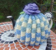 Hand Knitted Retro Tea Cosy by LittleDaisyKnits on Etsy