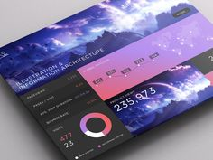 SJQHUB™ // I&IA Dashboard  Development for the Illustration & Information Architecture skill set. Development of the gradient style and vibrant colours for impact.  Full size image attached...