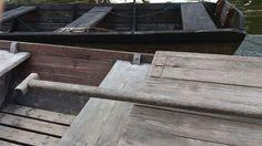 Szkuty drewniane na Wiśle.