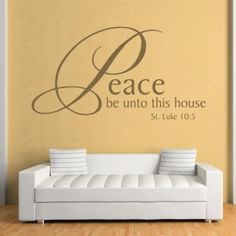 Peace Be Unto This House Quote Wall Stickers Wall Art Decal