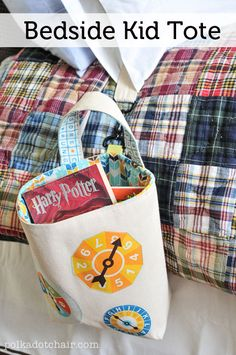 Bedside Kid Tote Sewing Tutorial